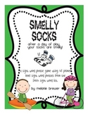 Smelly Socks Primer Sight Word Phrase Game with Data Collection