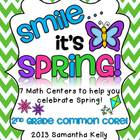 Smile, It's Spring! 7 Math Centers Aligned to Common Core
