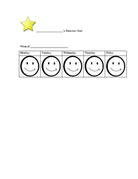 Smiley Face Behavior Chart (Tier)