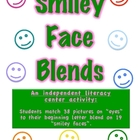 Smiley Face Blends-Literacy Center-Match Pictures to Begin