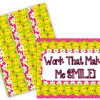 Smiley-Face Flowers Bulletin Board Set