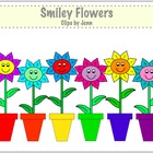 Smiley Flowers Clip Art Freebie!  {Graphics for Commercial