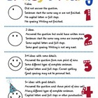 Smiley Writing Student Poster and Rubric for Descriptive Writing