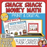 Snack Shack Math Task Cards:32 Cards for Adding & Subtract