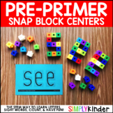 Snap Cube Center - Pre-Primer Sight Word Building {Simply Kinder}