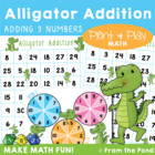 Snap to Add - Math Center Game for Addition to 30