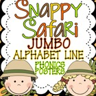 Snappy Safari JUMBO Alphabet Line: A Phonics Poster Set