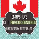 Snapshots of a Famous Canadian {Biography Printables}