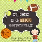 Snapshots of an Athlete {Biography Printables}