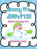 Sneezy the Snowman Math and Literacy Fun