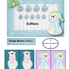 Snow Bear Suffixes File Folder Game