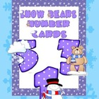 Snow Bears Number Cards - Freebie