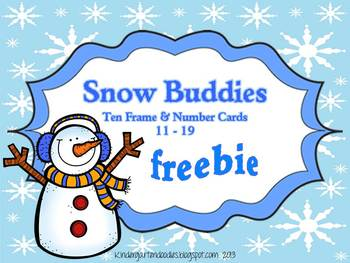 Snow Buddy Number & Ten Frame Cards