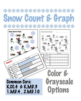Snow Count & Graph  - Common Core Measurement & Data