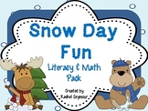 Snow Day Fun- Literacy and Math Pack