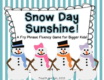 Snow Day Sunshine: Fry Phrase Game for Bigger Kids