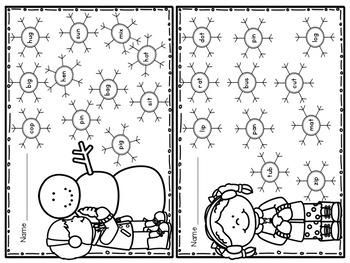 """Snow"" Fun Snowbuddies Literacy and Math Winter Pack"