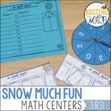 Winter Math Centers: Place Value, Rounding, Patterns, and