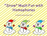 """Snow"" Much Fun with Homophones"