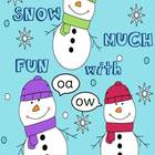 Snow Much Fun with oa & ow