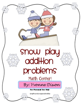 Snow Play Addition Problems
