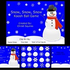 Snow, Snow, Snow Koosh Ball Game for the SMARTBoard