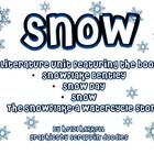 Snow - a Four Book Literature Unit (Fiction and Non-Fiction)