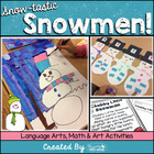 Snow-tastic Snowmen-Directed Draw Art Project and Activities