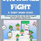 Snowball Fight- A Sight Word Game