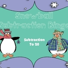 Snowball Subtraction to 20 Bingo