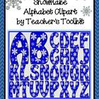 Snowflake Alphabet Clip Art Commercial Use