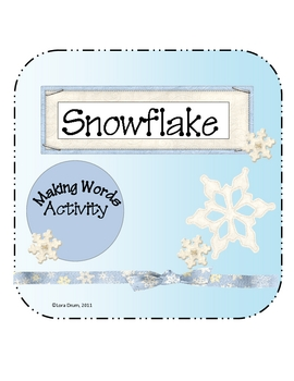 Snowflake Make a Word