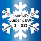 Snowflake Number Cards 1 to 20 - counting, matching, id nu