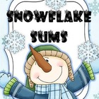 Snowflake Sums - Addition Games - Math Centers