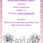 Snowflake Upper and Lower Case Alphabet Match
