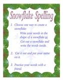 Snowflake spelling center