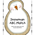 Snowman ABC Match