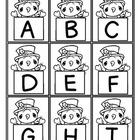 Snowman Alphabet Card Game