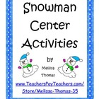 Snowman Center Activities