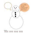 Snowman Cottonball Cover-up to Learn About Area