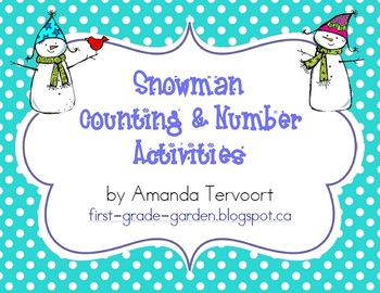 Snowman Counting & Number Activities {0-100}