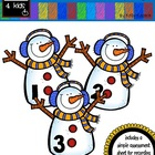 Snowman Counting- Number Identification, Order, and Sequencing