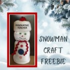 Snowman Craft Instructional Guide {FREEBIE}