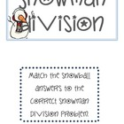 Snowman Division Game