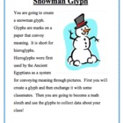 Snowman Glyph + Data Analysis Using Fractions, Percentages