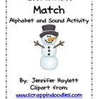 Snowman Match - Word Work Activity