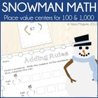 Snowman Math- 6 Number Sense Centers