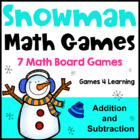 Snowman Math Games Addition and Subtraction