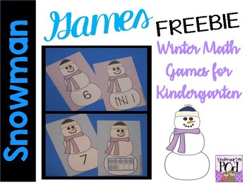 Snowman Math Games FREEBIE!