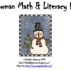Snowman Math &amp; Literacy Fun